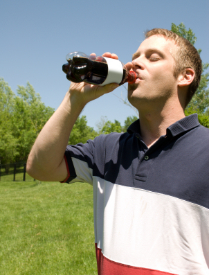 man-drinking-soda