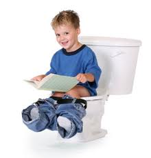 kid on potty