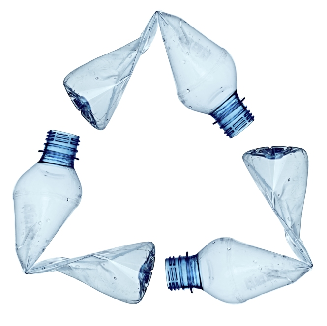 plastic bottle triangle