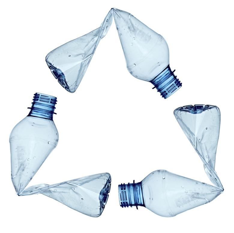 plastic bottle triangle