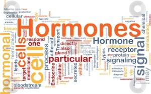 Hormones hormonal background concept